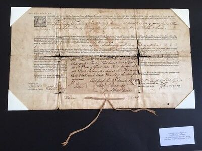 1775 Land Grant Signed Lord William Campbell, Last Royal Governor South Carolina