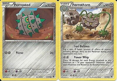 Pokemon Cards: Ferrothorn 73/98 & Ferroseed 71/98 Emerging Powers Set! NM