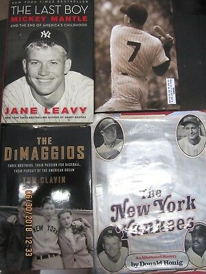 Yankees Legends Book Collection,mantel,dimaggio & Yankee Players