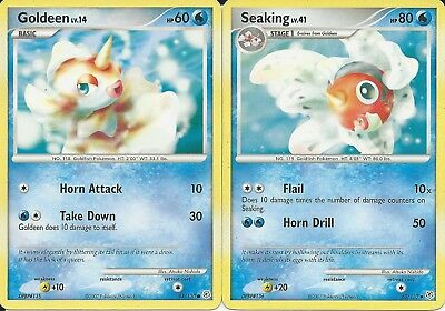 Pokemon Cards: Seaking 62/130 & Goldeen 84/130 Diamond & Pearl Set!