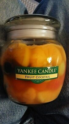 "Ultra Rare Yankee Candle 15 .5 Oz. ""fruit Coctail"" New & Never Used As Pictured"