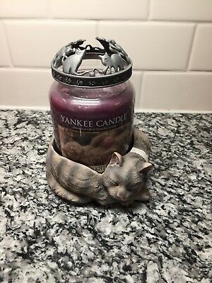 New Yankee Candle My Favorite Things Whiskers On Kittens Jar Holder Candle Set