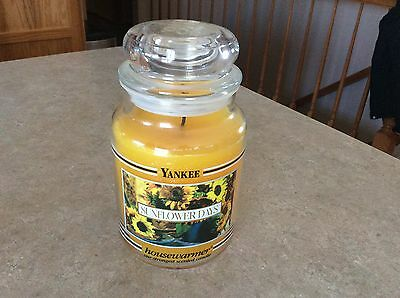 Yankee Candle Sunflower Days 22 Oz Burned Twice Black Band