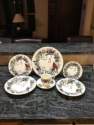 Lenox Winter Greetings China 5 Piece Place Setting For 16 W/ Extras 101 Pcs Mint