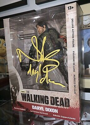 "Walking Dead Norman Reedus Rare 10"" Doll Blood Variant W/ Proof And Inscription"