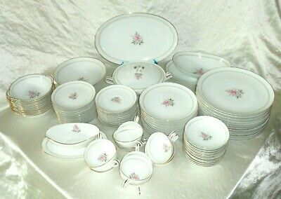 90pc Noritake China 5510 Daryl~ 6 Piece Place Settings +serving Pieces