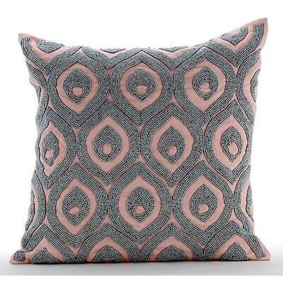 Passion Palace - Decorative Throw Pink 18x18 Inch Cotton Linen Pillow Covers
