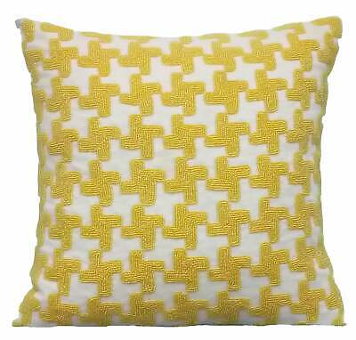 Yellow Decorative Throw Pillow Covers 18x18 Inch, Cotton Linen- Yellow Belly