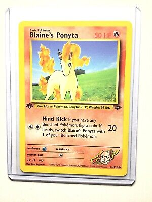 BLAINE'S PONYTA - 1st Edition Gym Challenge - 64/132 - Common - Pokemon - NM