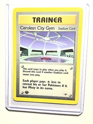 CERULEAN CITY GYM - 1st Edition Gym Heroes  - 108/132 - Uncommon - Pokemon - NM
