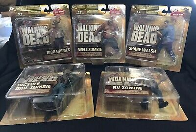 Walking Dead Tv Series 2 -sealed Case 12 Figures - Rick Well Zombie Bicycle Girl