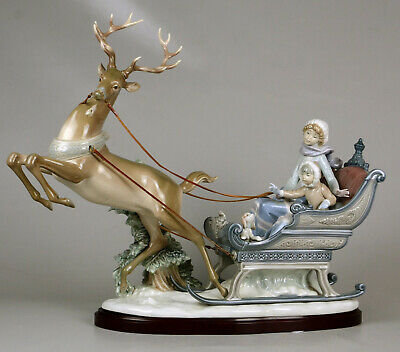Lladro 1429 Winter Wonderland Glased Retired Base Included Perfect Condition