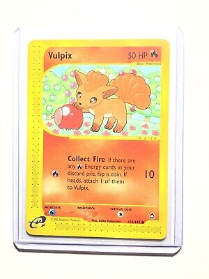 VULPIX - 116/147 - Aquapolis - Common - Pokemon Card - NM
