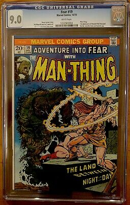 Fear #19 Cgc 9.0 Wht Pages 1st App Of Howard The Duck (1973) Man-thing 1st Print