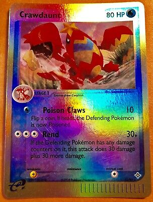Free Shipping CRAWDAUNT 13/97 RARE REVERSE Holo POKEMON CARD from the Ex Dragon