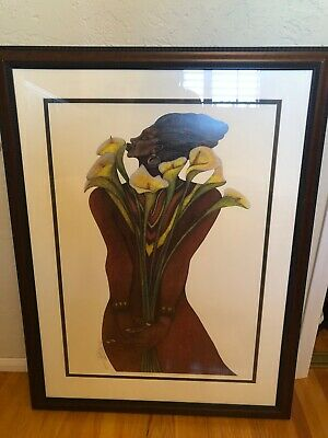 """""""sweet Lillies"""" Edition Sold Out Ap Remarque (coa) Edition 875 By Charles Bibbs"""