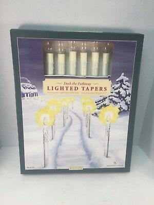 Christmas Pathway Lights Taper Candles Decorations Restoration Hardware