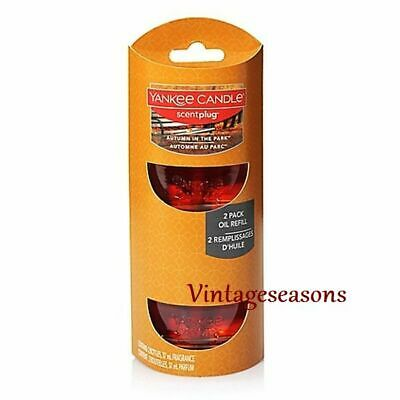 Yankee Candle Autumn In The Park Scent Plug Fall Home Fragrance Electric Refills