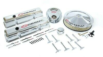 Proform Small Block Chevy Chevy Logo Chrome Engine Dress Up Kit P/n 141-900