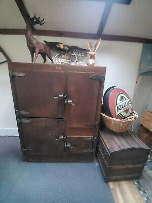 Vintage Seager Ice Chest..100 Years Old..good Overall Condition. Rare Item..