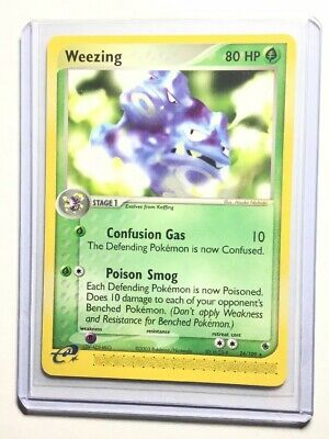 WEEZING - 24/109 - Ruby & Sapphire - Rare - Pokemon Card - NM