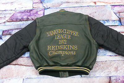 Redskins Vintage Casual Leather Vest Yankee Clipper Heritage Size Xxl Rarity