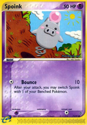 1x Spoink - 73/97 - Common - Reverse Holo NM-Mint Pokemon EX - Dragon