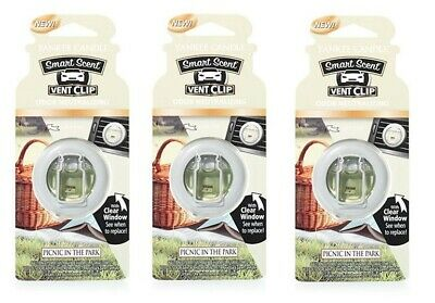 X3 Yankee Candle Picnic In The Park Car Smart Scent Vent Clip