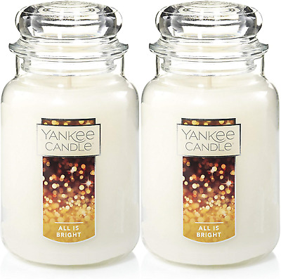 Yankee Scented Candle Refreshing Aroma All Is Bright Large Jar 22oz Set Of 2