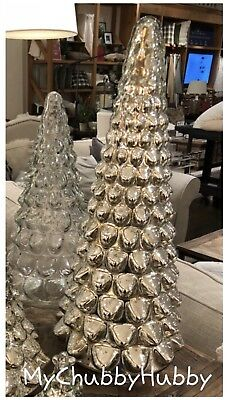 Nib Pottery Barn ~mercury Glass~ Large Silver Tree ~christmas~ Sold Out @ Pb