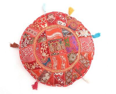 Indian 20pc Patchwork Embroidered Cushion Cover Vintage Sofa Throw Cotton Pillow