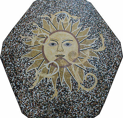 Sun Centered Garden Pool Home Marble Mosaic