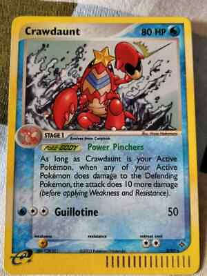 POKEMON CRAWDAUNT HOLO RARE 2003 3/97 EX Dragon Set PSA 9 MINT TRADING CARD