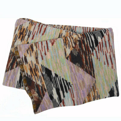 Missoni Home Ilenia T42 Special Heavy Throw 100% Wool Patchwork Express Delivery