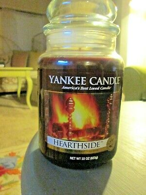 Super Rare New Yankee Candle Original Hearthside 22 Ounce Jar Candle