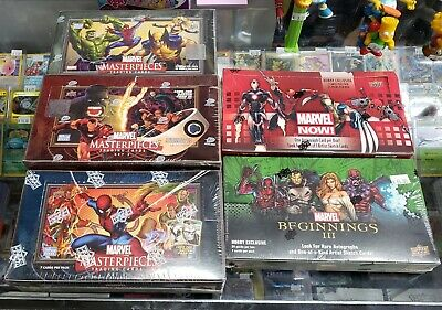 Marvel Masterpieces - Marvel Now/beginnings - Upper Deck Trading Card Boxes!!