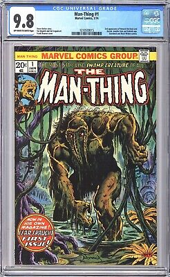 Man-thing #1 Cgc 9.8 1st Issue 2nd App Of Howard The Duck