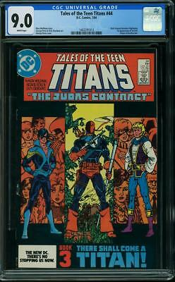 Tales Of The Teen Titans #44 Cgc 9.0 1st Nightwing (dick Grayson)! Perez Cover!