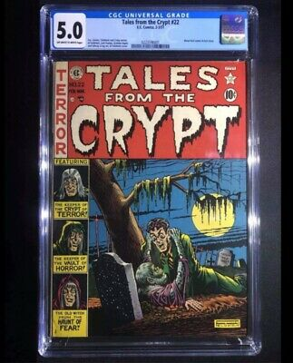 Ec Comics Tales From The Crypt 22, Cgc 5.0  Off White To White Pages Pch