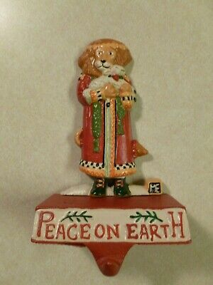 Midwest Mary Engelbreit Cast Iron Stocking Holder Peace On Earth Lamb And Lion