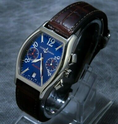Ulysse Nardin Elctro Blue Dial Michelangelo Automatic Rare Find - 56342