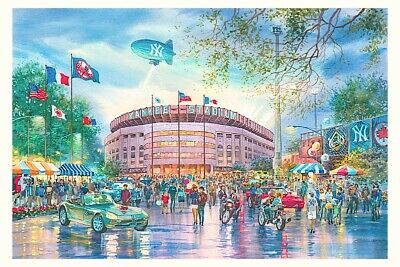 Yankee Stadium Watercolor Painting By Roustam Nour | Free Shipping