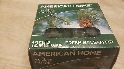 American Home By Yankee Candle 12 Scented Tea Light Candles Fresh Balsam Fir