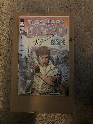 The Walking Dead #100 Rare Sdcc Cover Signed By Robert Kirkman
