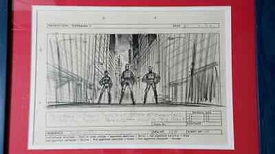 Superman Ii Original Hand Drawn Storyboard Prop Signed By Actor