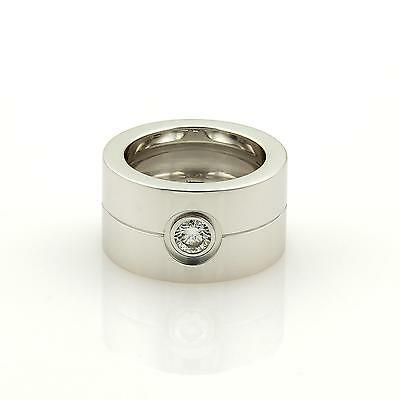 Cartier High Love Diamond 18k White Gold Wide Band Ring Size 47 Us-4