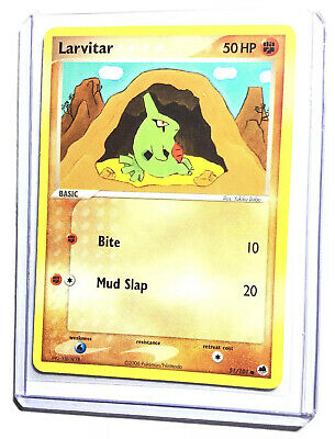 LARVITAR - 51/101 - EX Dragon Frontiers - Common - Pokemon Card - NM
