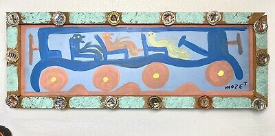Genuine Mose Tolliver Very Unique Bus Painting Southern Folk Art Incredible Rare
