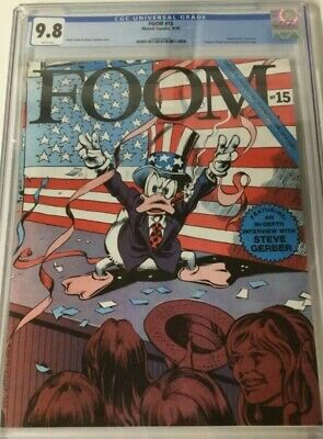 Foom 15 Cgc 9.8 White Pages Howard The Duck  1st Ms. Marvel  1st Captain Britain
