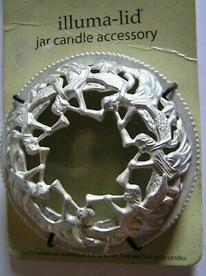 Yankee Candle Illuma Lid Topper Pearl Luster Angels Silver Trumpet New Free Ship